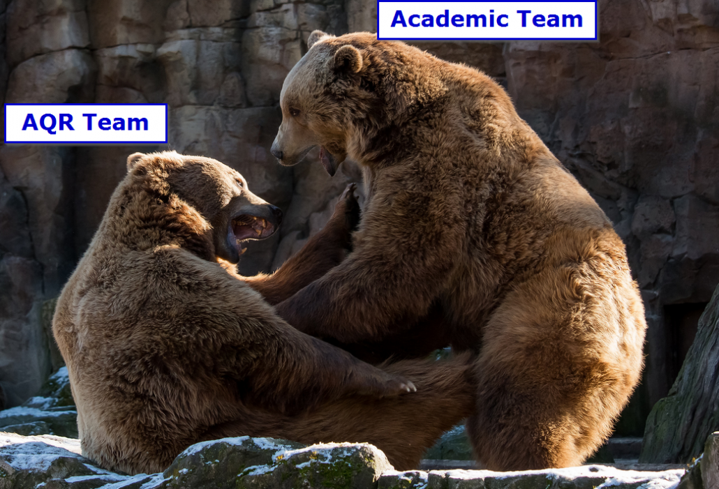 aqr versus the academics on active share